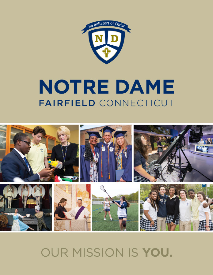 Notre Dame HS viewbook cover
